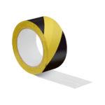 Ruban adhésif pour marquage de signalisation - 33 m, 50 mm, Rouge/blanc, Polychlorure de vinyle - PVC, 1pcs