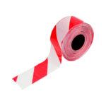 Ruban de signalisation diagonal - Polyéthylène - PE, Rouge/blanc, 50 mm, 100 m, 1pcs/12pcs