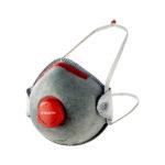 Masque de protection jetable FFP2CM2000 charbon avec valve - FFP2 NR D, Avec valve, 149, 10pcs