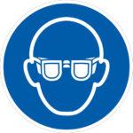 Protection oculaire - M004 - 80 mm, Polystyrène - PS, Bleu. Blanc, 221 g, 1pcs