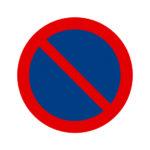 Panneaux de signalisation - 300 mm, Polystyrène résistant aux chocs - HIPS, Rouge. Bleu, 221 g, 1pcs