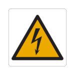Panneau signalétique d'avertissement, installations et armoires électriques - Polystyrène - PS, Jaune. Noir, 200 mm, 200 mm, 1pcs