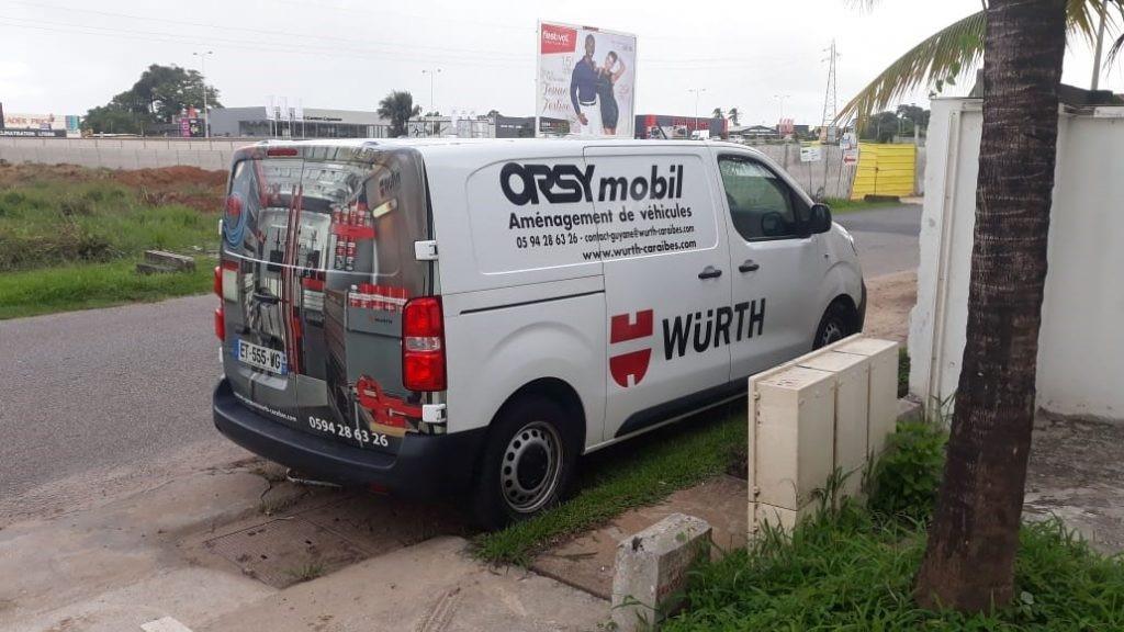 Camionette ORSYmobil chez Würth en Guyane