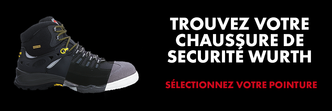 selection pointure chaussures securité wurth outre mer