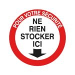 Panneaux de signalisation - 300 mm, Français, Polystyrène - PS, Rouge. Noir. Blanc, 1pcs