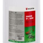 Graisse lubrifiante multi-usage, engins chantier - 5 kg, Bidon en fer-blanc, KP2N-30, -20 à 140 °C, 1pcs