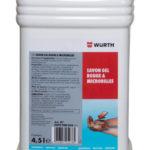 Savon gel rouge avec microbilles - 4.5 L, Bidon plastique, Rouge, Agrumes, 1pcs/4pcs