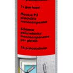 Mousse de montage pistolable monocomposant Streetfighter - Polyuréthane mono-composant, Jaune, 18 kg/m³, Moyen - fin, 12pcs