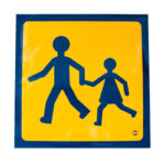 Panneaux transport enfants - 250 mm, 250 mm, Orange fluorescent, Auto-adhésif, 1pcs