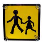 Panneaux transport enfants - 250 mm, 250 mm, Orange, Avec ventouses, 1pcs