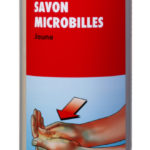 Savon microbilles jaune - 3 L, Bouteille en plastique, Jaune, Agrumes, 4pcs