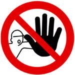 Panneaux d'interdiction d'acces - Polystyrène - PS, 222 g, 1pcs