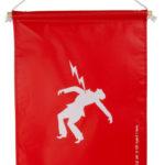Fanion risque électrique - 500 mm, 350 mm, Rouge, 1pcs